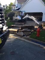 Excavator and bobcat services