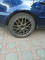 "Original BBS 17"" Audi Wheels/Rims (with used tires)"