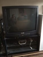 """32"""" Phillips tube tv with stand"""