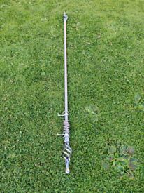 120cm brushed stainless steel curtain pole
