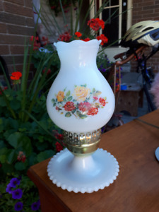 Small Antique Bedside or Table Lantern Lamp.