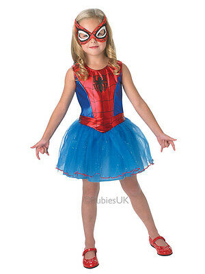 Child Licensed Marvel Spidergirl Girls Spiderman Outfit Fancy Dress Costume