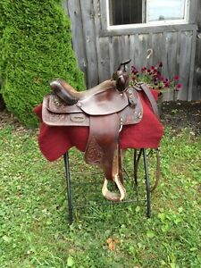 Canadian made western saddle