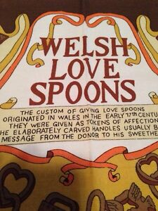 Welsh Love Spoons tea towel. Gatineau Ottawa / Gatineau Area image 2