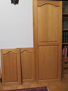 Portes de cuisine en chêne