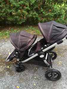 City select double stoller with infant seat adapter