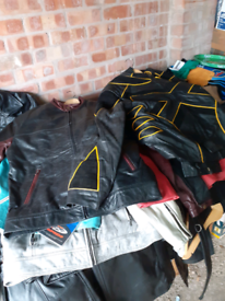 Wholesale bikers goth leather jackets long leather coats over £4000 w