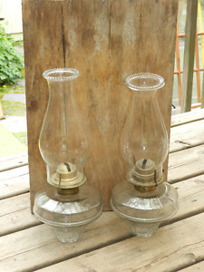 hanging oil lamps brackets included - best offer