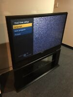 "Really nice 55"" tv with glass stan"