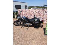 Yamaha dragstar motorbike