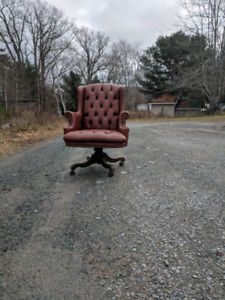Beautiful red leather chair