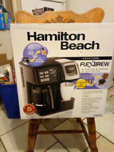 Hamilton Beach FlexBrew 2way coffee maker. BNIB.