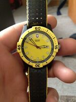 "Authentic Swiss Army watch, with $110 ""Hirsh strap"