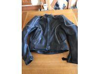 Ladies leather Buffalo motorbike jacket