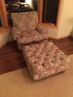 Free! Comfy chair and ottoman.