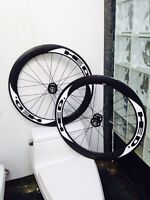 BRAND NEW HED CARBON *TRACK* WHEELSET -  60mm STINGERS / HED HUB
