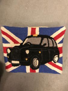 UK Union Jack British Flag Wool Designer Pillows