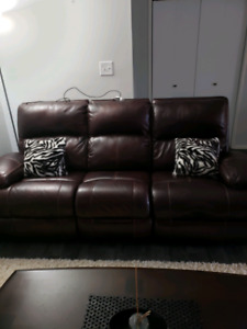 Electric reclining sofa and loveseat
