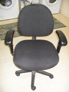 Black Material Office or Desk Chair