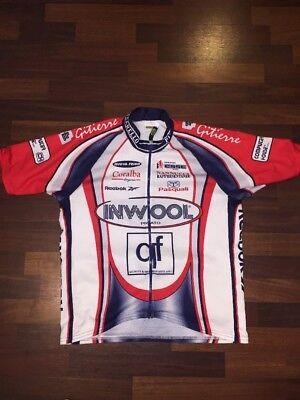 ELLEGI SZ 6 CYCLING JERSEY INWOOL GITIERRE REEBOK Full Zip ITALY 0409d4cf9