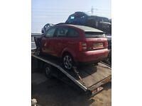 Breaking Audi a2 1.4