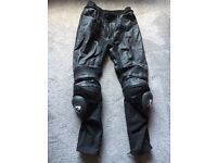 Furigan leather motorcycle trousers