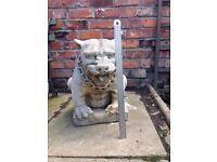 Stone Gargoyles / Dogs (pair) outdoor/indoor