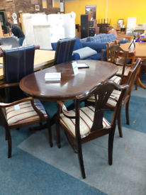 Brown table and 4 chairs