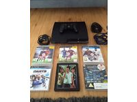 PS3 120gb with 6 games inc FIFA 16 gta5