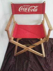 Chaise de réalisateur vintage, Coca Cola