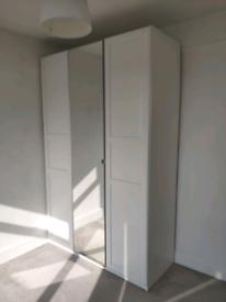 IKEA pax wardrobe cupboard bedroom storage vikedal mirror drews