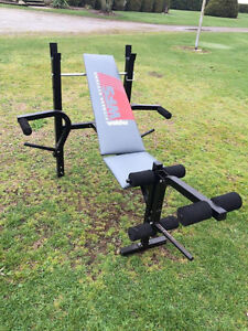 Weider Workout Bench and Weights