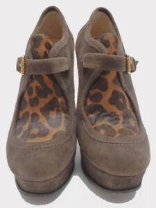 Michael Kors Brown Women Shoes Size US 6