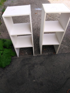 Two small book shelves