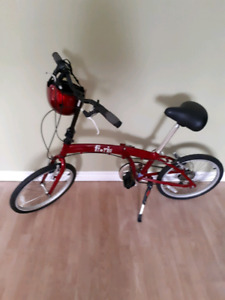 RED FOLD UP BIKE and Halment