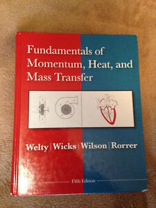 Fundamentals of Momentum, Heat, and Mass Transfer 5th Edition