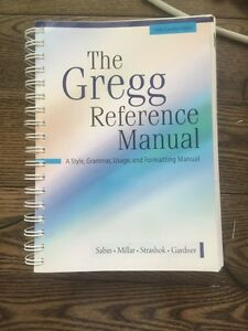 The Gregg Reference Manual Kingston Kingston Area image 1