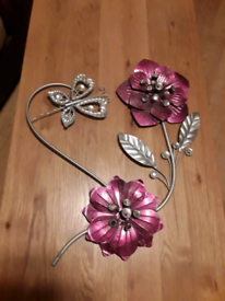 Metal wall flowers hanging decoration