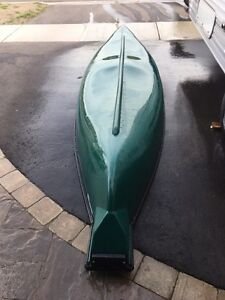 14' flat back canoe with  electric trolling motor