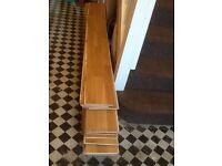 Reclaimed solid wood oak flooring