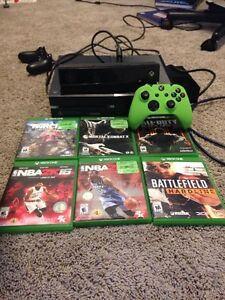 Xbox One with 6 games