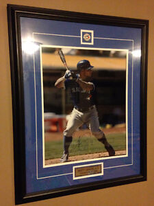Toronto Blue Jays Brett Lawrie Authentic Signed Framed Picture