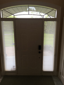 FRONT ENTRANCE DOOR WITH RIGHT & LEFT SIDELIGHTS