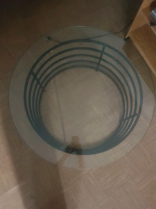 Classy, Round plate glass coffee table