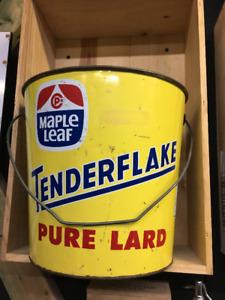 Sceau/Contenant Tender Flake (Maple Leaf) en métal