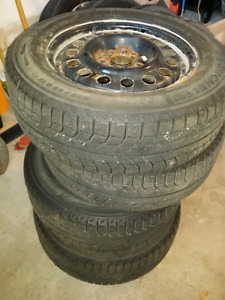 4 Michelin X-ice snow tires and rims