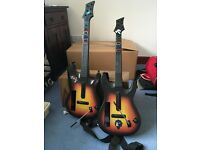 Two Guitar Hero Guitars Wii