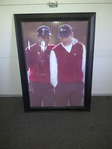 Framed picture of Tiger Woods and Jim Furyk (Great for Office) Sarnia Sarnia Area image 2