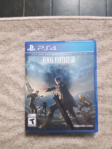 Final Fantasy XV with unused DLC day one code