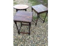 Trio of side tables.